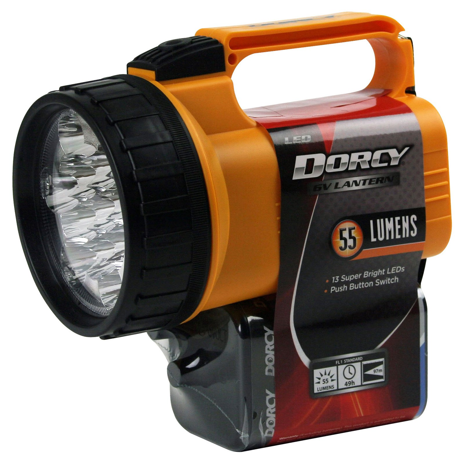 Dorcy International LED Flashlight Lantern with 6 Volt Battery