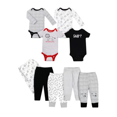 Little Star Organic Star-Pack Mix 'n Match Outfits, 8pc Gift Bag Set (Baby - Star Wars Outfits