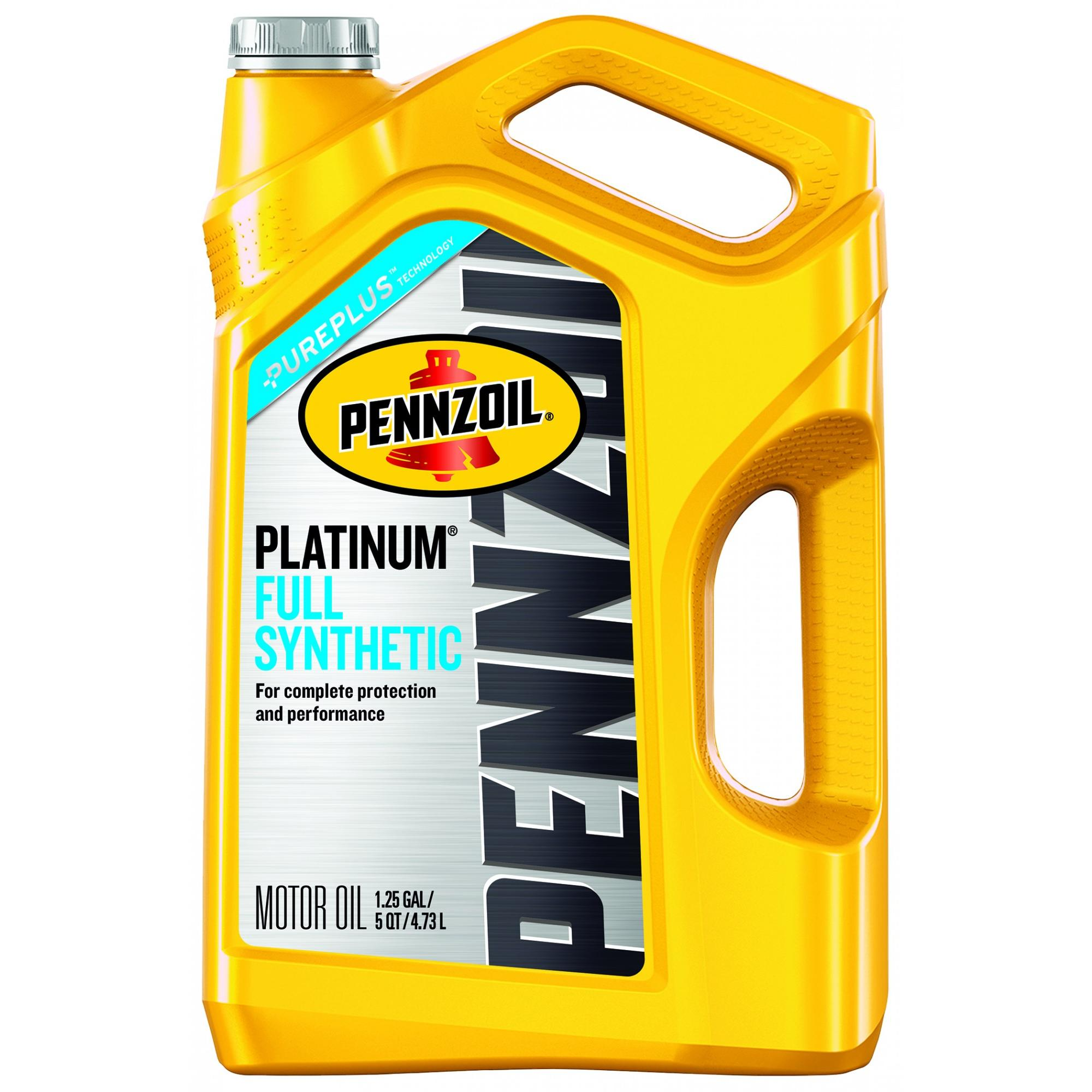 Pennzoil 0W20 Platinum Full Synthetic Motor Oil, 5 Qts