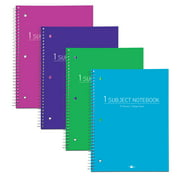 """FASHION POLY COVER NOTEBOOK 1SUB 10.5""""x8"""" COLLEGE RULED W/MRG ASST"""