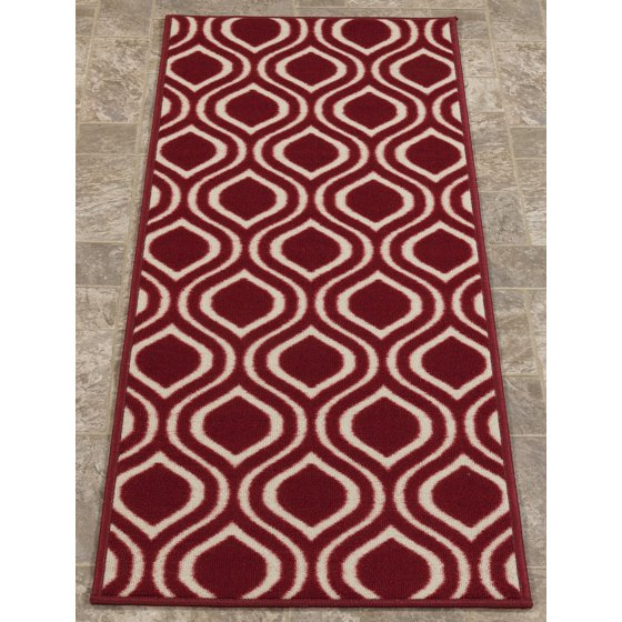 Berrnour Home Rose Collection Red Moroccan Trellis Design