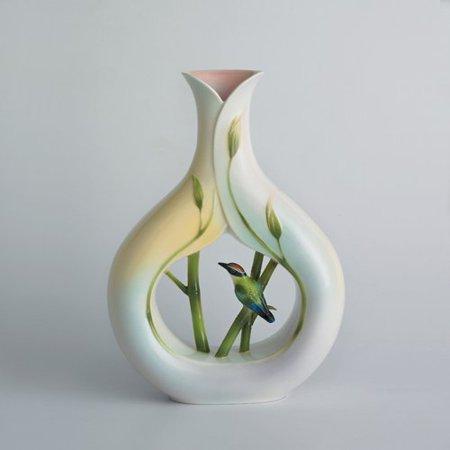 Frank Vase (Franz Porcelain - Vase - Bamboo Song Bird )
