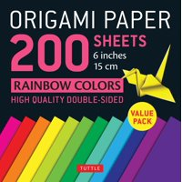 """Origami Paper 200 Sheets Rainbow Colors 6"""" (15 CM): Tuttle Origami Paper: High-Quality Double Sided Origami Sheets Printed with 12 Different Designs (Instructions for 6 Projects Included) (Other)"""