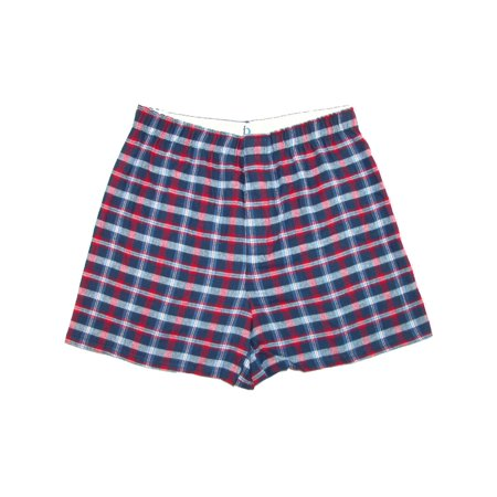 Men's Cotton Flannel Plaid Boxer Sleep