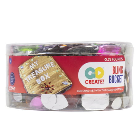 Go Create! Bling Bucket Assorted Gemstones, 0.75 lbs.](Crafting Stores)