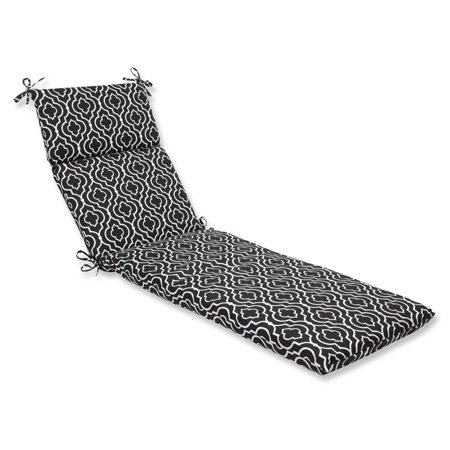72 5 traliccio maglia black and white outdoor patio for Black chaise lounge cushions