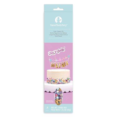 Sweet Tooth Fairy Born To Sparkle Topper Kit 3Pcs-Sparkle Tooth Fairy Kits