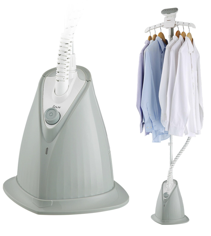 SALAV XL-08 Garment Steamer w/ XL Water Tank and Woven Hose, Gray