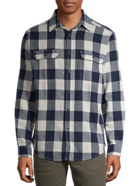 George Men's and Big Men's Buffalo Plaid Super Soft Flannel Shirt, Up to 5XLT