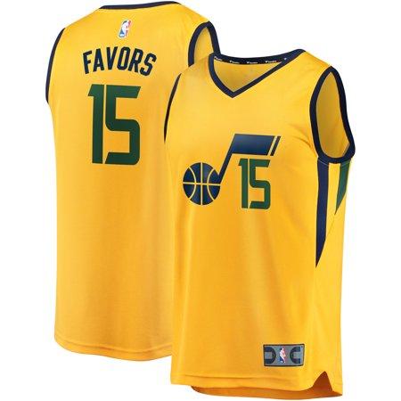 finest selection 416e9 a1c44 Derrick Favors Utah Jazz Fanatics Branded Fast Break Replica Player Jersey  Gold - Statement Edition - Walmart.com