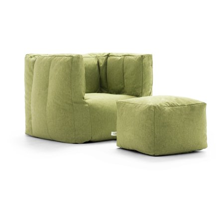 lux by big joe cube ottoman bean bag. Black Bedroom Furniture Sets. Home Design Ideas