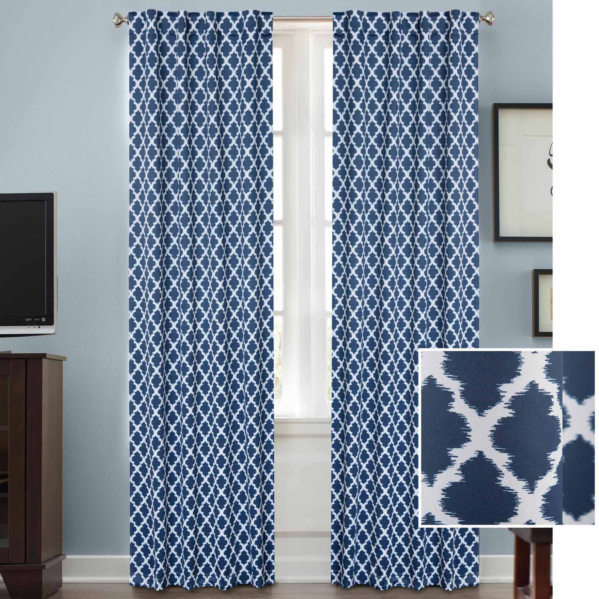 Better Homes and Gardens Tangier Thermal 99 Percent Light Blocking Curtain Panel