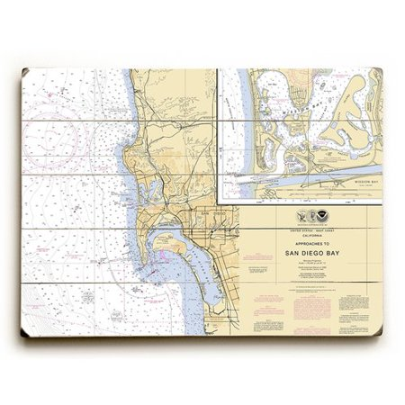 Longshore Tides Ca San Diego Ca Nautical Chart Sign Graphic Art