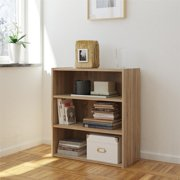 Tally 3 Shelf Bookcase, Multiple Colors