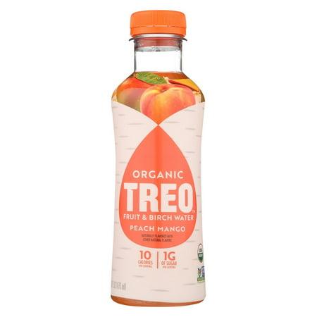 Birch Juice - Treo Birch Water Beverage - Peach Mango - Case Of 12 - 16 Fl Oz.