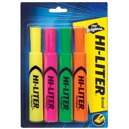 Avery Dennison Hi Liter Fluorescent - Avery Hi-Liter Desk Style Highlighter, Chisel Tip, Assorted Color 4 ea (Pack of 3)