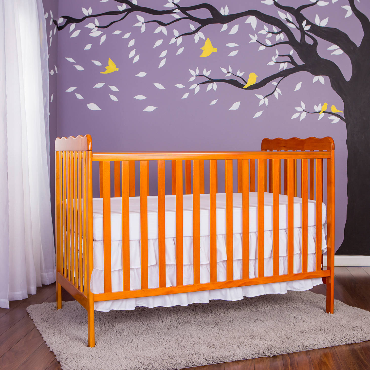Dream On Me Classic 2-in-1 Convertible Crib, Choose Your Finish