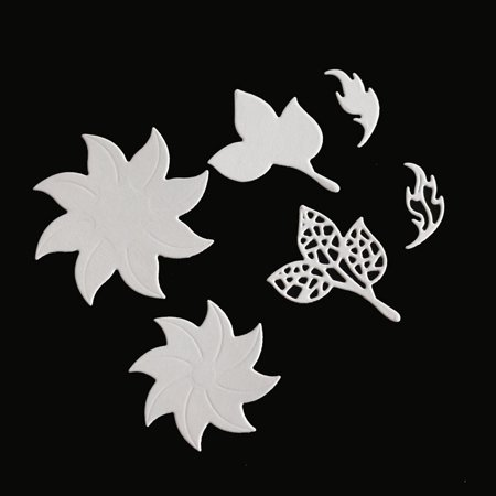 Flower & Leaves Combination Carbon Steel Cutting Dies Set Knife Mold Stencils DIY Scrapbooking Die Cuts Decor Crafts Embossing Templates Art Cutter - image 4 de 6