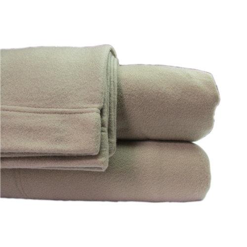 Cozy Fleece Polar Fleece Sheet Sets--Queen--Tan