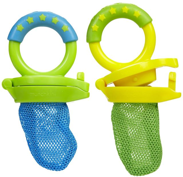 Munchkin Fresh Food Feeders (2 Pack) with Snack Dispenser, Green