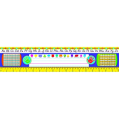 Grades 2-3 (Modern) Desk Toppers Reference Name Plates, Provide students with a handy, desktop reference of critical math and language arts facts By Trend Enterprises
