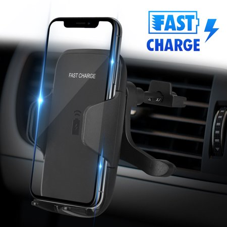 Car Wireless Charger, Fast Car Charging Mount Air Vent Phone Holder for Samsung Galaxy Note 9 8 S10 S10E S9 S8 Plus S7 Edge S7 iPhone XS XR X 8 Plus and
