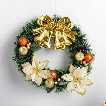 Hot Sale Merry Christmas 35cm Christmas Wreath Garland Window Door Hanging Ornament DIY Xmas Home Festival Decoration - Diy Halloween Wreath