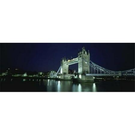 Bridge across a river  Tower Bridge  Thames River  London  England Poster Print by  - 36 x 12 - image 1 of 1