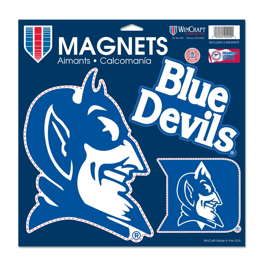 Duke Blue Devils Official NCAA 11 inch  x 11 inch  Car Magnet by WinCraft