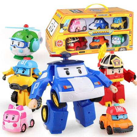 Robocar Poli Transformation Robot Poli Amber Roy Car Toys Action Figure Toys - image 2 of 4