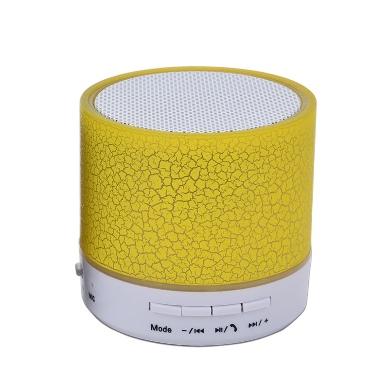 Mini Wireless Portable Bluetooth Speaker Player With LED and Build-in TF USB FM Microphone Musical White
