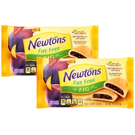 (2 Pack) Nabisco Fat Free Fig Newtons, 10 oz (Chocolate Herbal Figs)