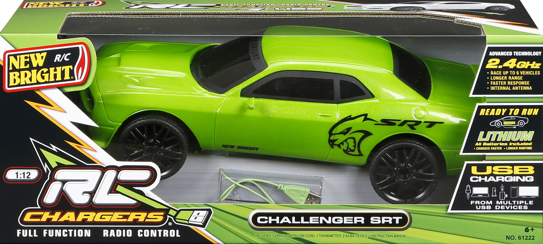 New Bright 1 12 Rc Chargers Challenger Srt Remote Control Car