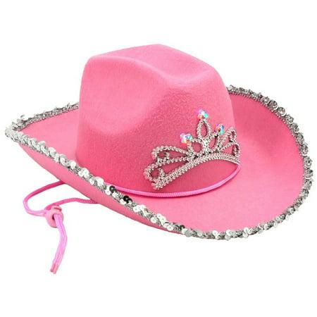 MyPartyShirt - Light Up Pink Cowboy Hat LED Tiara Blinking Girls Flashing  Cowgirl Rodeo - Walmart.com 19c8ee0833fe