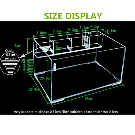 Moaere 5.5 Gallon Acrylic Desktop Aquarium Fish Tank Kit with Water Pump Filter Home Office Decor - image 5 de 13