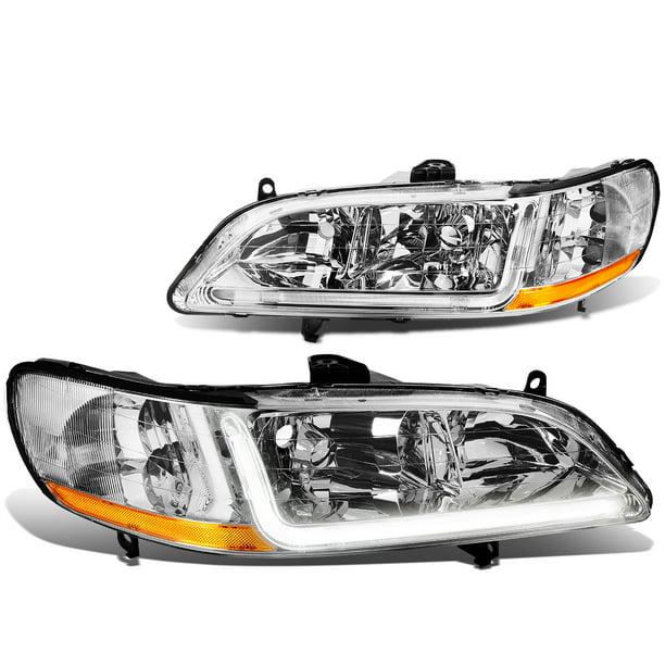 For 1998 To 2002 Honda Accord Led Drl Light Bar Headlight Chrome Housing Amber Corner Headlamp 99 00 01 Left Right Walmart Com Walmart Com