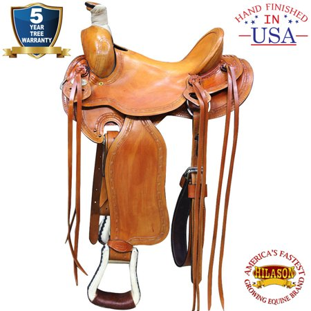 15 In Western Horse Saddle Leather Ranch Roping Trail Hilason Beige Advantage Leather Saddle