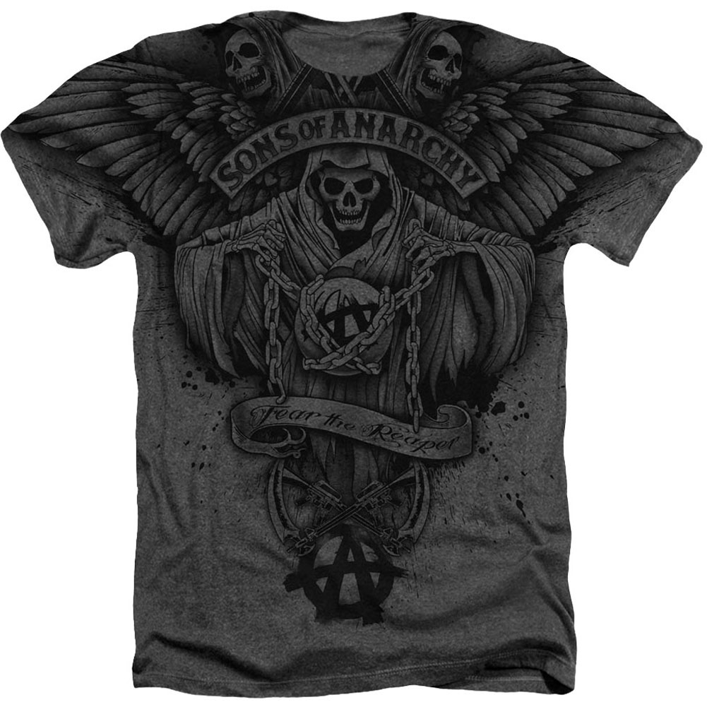 Sons Of Anarchy Men's  Winged Reaper T-shirt White