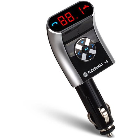 Accessory Power GOgroove FlexSMART X3 Compact Bluetooth FM Transmitter with Enhanced Clarity Technology, Black