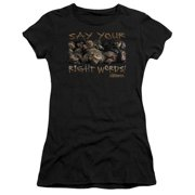 Labyrinth Say Your Right Words Juniors Short Sleeve Shirt