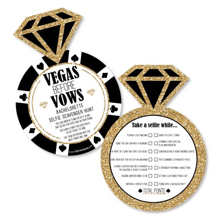 Vegas Before Vows - Selfie Scavenger Hunt - Las Vegas Bridal Shower or Bachelorette Party Game - Set of 12](Scavenger Hunt Ideas For Halloween Party)