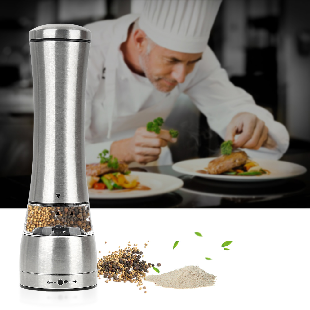 Salt and Pepper Grinder Set of 1  Set of 2 oobest Manual Pepper Mill and Salt Mill Shakers With Adjustable Coarseness Salt and Pepper... by