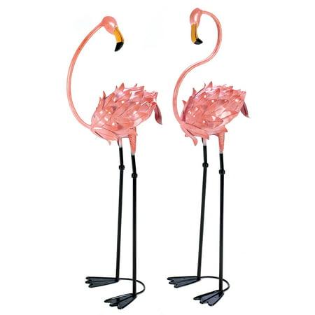 Flamingo Yard Decorations, Unique Pink Metal Flamingo Garden Decor ...