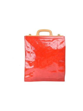 5de36656a Product Image Monogram Vernis Stanton 868889 Red Patent Leather Tote. Louis  Vuitton