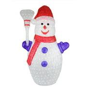 4' Pre-lit Commercial Grade Acrylic Snowman Christmas Display Decoration - Polar White LED Lights