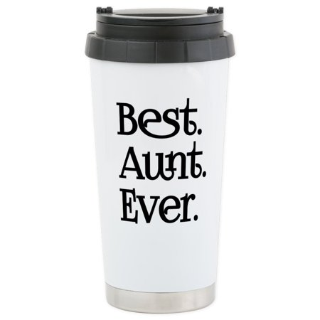 CafePress - Best Aunt Ever Travel Mug - Stainless Steel Travel Mug, Insulated 16 oz. Coffee