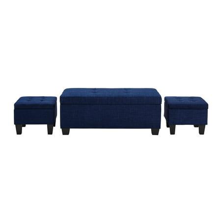 Fine Picket House Everett 1Pk Storage Ottoman In Blue Ncnpc Chair Design For Home Ncnpcorg