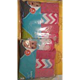 Washcloths Girls Chevron Pink 2pack 8 pieces Cocoa Pink 4 Piece