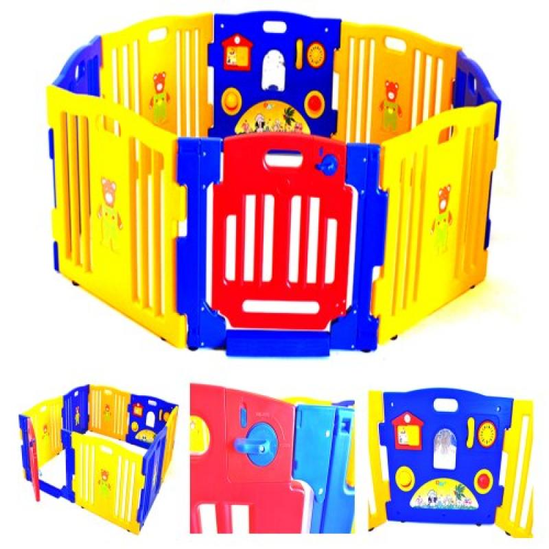 Baby Playpen Kids 8 Panel Safety Play Center Yard Home In...