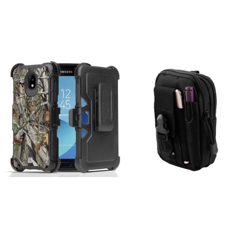 - Rugged Case Holster Combo for Samsung Galaxy J3 Orbit (Tree Camo) with Tactical Utility Pack and Atom Cloth for Samsung Galaxy J3 Orbit